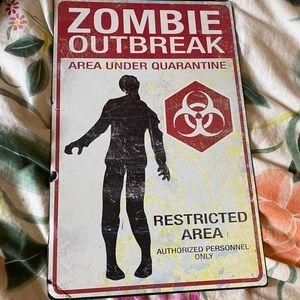 Zombie outbreak metal poster
